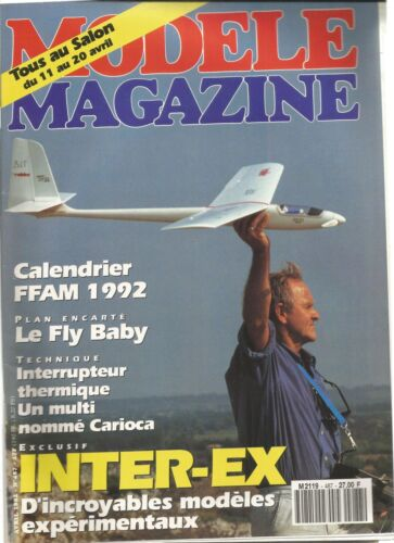 """MODELE MAG N°487 PLAN : """"FLY BABY"""" PETIT AVION / LE GROGNARD / MONT. INTER. THER"""