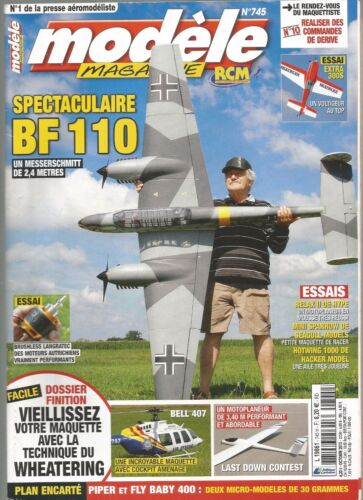 MODELE MAG N°745 : PLAN : PIPER ET FLY BABY 400/FB 110/EXTRA 300S/MOTOPLANEUR