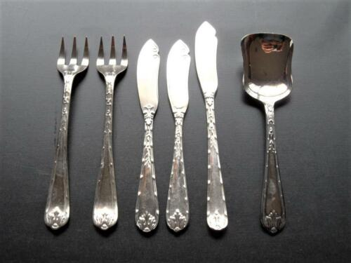 Vintage Set x 6 Pieces Rodd Acanthus Silver Plated Afternoon Tea Cutlery