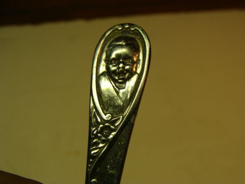 Gerber Baby spoon Winthrop silver Plate Baby on handle Charming