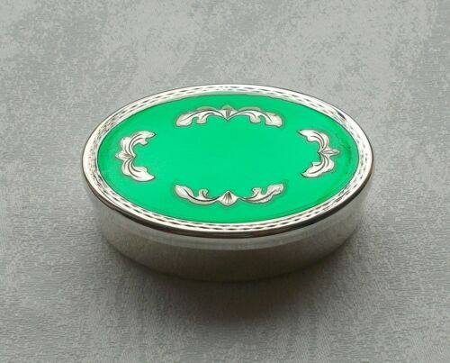 Rare Big Pill Box/Jewelry Box With Enamel From 800er Silver, Italy #1