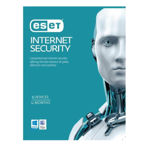 ESET Internet Security for 5 PC Devices 1 Year ESD Physical Product Key Win Mac