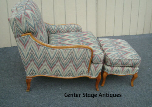61830  French Country Armchair Chair with Bench Ottoman Footstool Chaise Lounge