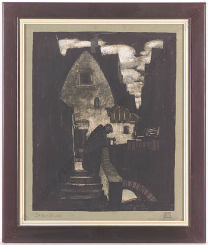 """Erwin Stolz (1896-1987), """"Secluded place"""", Tempera, 1920s (m)"""