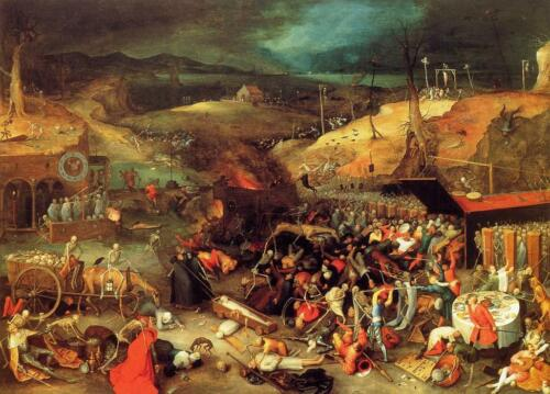 stunning  oil  painting  handpainted on canvas-the triumph of death