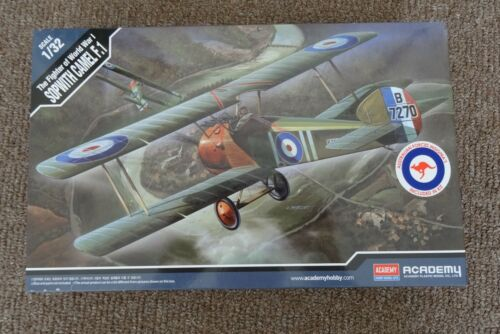 """Academy 12109 1/32 Sopwith Camel F-1 Plastic Model Kit """"Aus Forces Decals"""""""