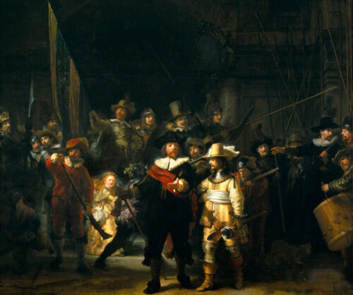 stunning oil painting handpainted on canvas-the nightwatch