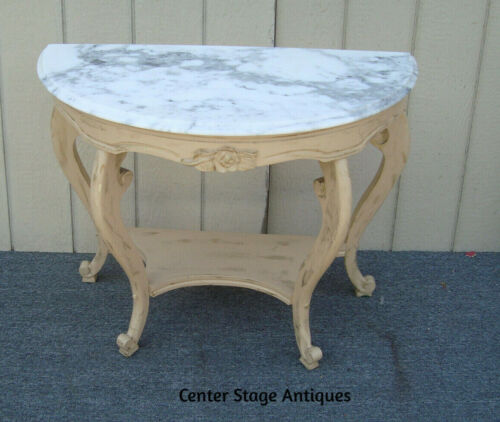 62130   Marble Top Console Table Sideboard Server