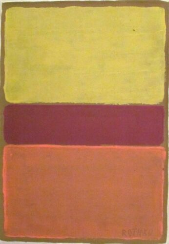 Vintage Abstract Canvas Signed Mark Rothko,  Modern  Art  20th Century <br/> size of painted area  about 55 by 38 centimeters