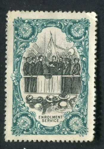 1919 SALVATION ARMY CINDERELLA (CARTRIDGE) STAMP ENROLEMENT SERVICE RARE MNG
