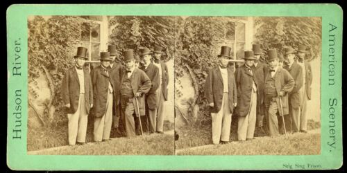 STEREOVIEW PHOTOGRAPH PHOTOGRAPHER SING SING PRISON NEW YORK ADMINISTRATION ? <br/> PRISON WARDEN STEPHEN JOHNSON IS IN VIEW