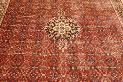 c1930s ANTIQUE DETAILED CLASSIC VILLAGE WOVEN BIJAR RUG 7x10 ROOM SIZE