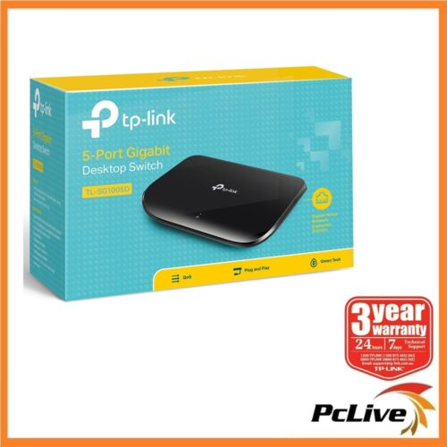 TP-Link TL-SG1005D 5 port 1000Mbps Gigabit Ethernet Switch Hub Plug and Play