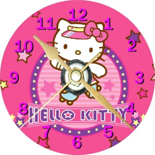 Hello Kitty 3 Novelty Cd Clock Can be personalised