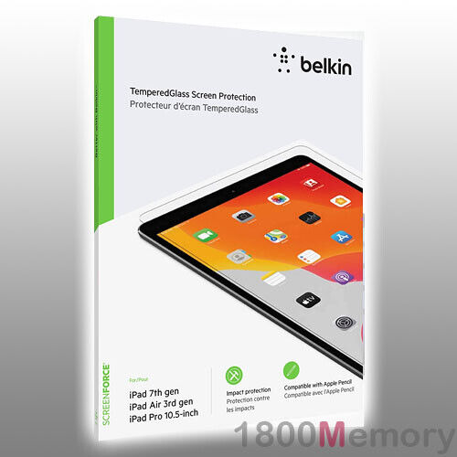 GENUINE Belkin Screen Force Tempered Glass Protector for Apple iPad 10.2 7th Gen