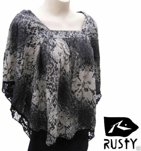 Rusty Surf Batwing Top Size 12 14 Dolman Short Sleeve Cotton T Shirt Blouse $70