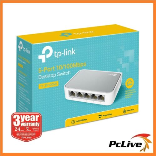 TP-Link TL-SF1005D 5 Port Network Ethernet Switch Hub Plug and Play 10 / 100Mbps