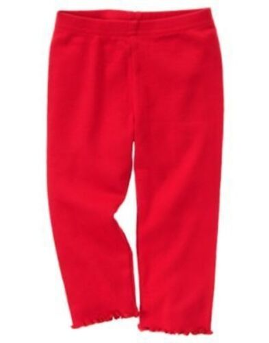 GYMBOREE COZY CUTIE RED BASIC LEGGNGS 3 6 12 18 24 2T 3T 5T NWT