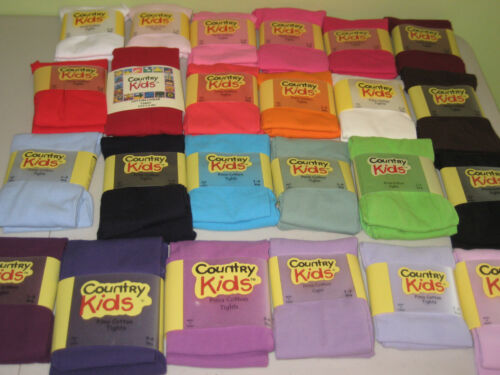 COUNTRY KIDS JEFFERIES Pima Cotton Footed Tights 1 to 11 years 24 Colors NWT