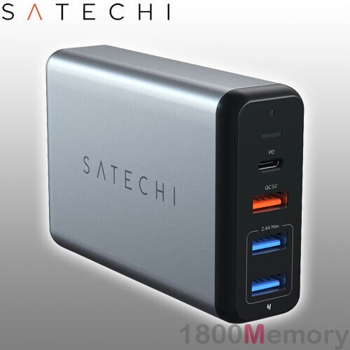 Satechi Type-C 75W MultiPort Travel Wall Charger USB-C USB Power Delivery PD QC3