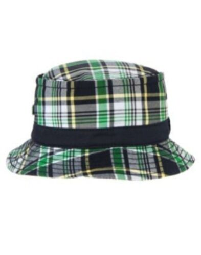 GYMBOREE PREPSTER PUP GREEN PLAID BUCKET HAT 12 24 2T 3T 4T 5T NWT