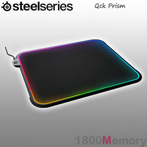 GENUINE SteelSeries Qck Prism Mouse Pad Mat Gaming 12 Zone LED RGB Dual Surface
