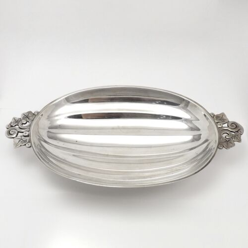 Antique Tiffany Sterling Silver Fluted Watermelon Form Fluted Bowl Dish ca1947