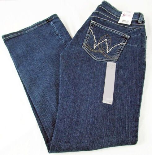 Womens Wrangler Booty Up Mae Low Rise Jeans American Royal 10MWZAR Sz 7/8 x 32
