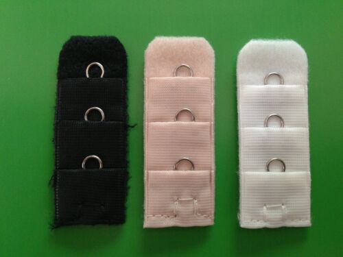 Bra Extenders *CHOOSE a CLIP ON bra extender with 1 hook BLACK / NUDE / WHITE
