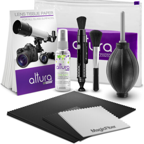 """Altura Photo® Camera Cleaning Kit with Lens Solution Spray, Lens Pen and Blower <br/> #1 Best Seller / Includes 16"""" x 16' Premium MagicFiber"""