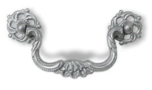 """Satin Pewter, baroque style, Bail Pull 3-1/2"""" Centers,  P-2101"""