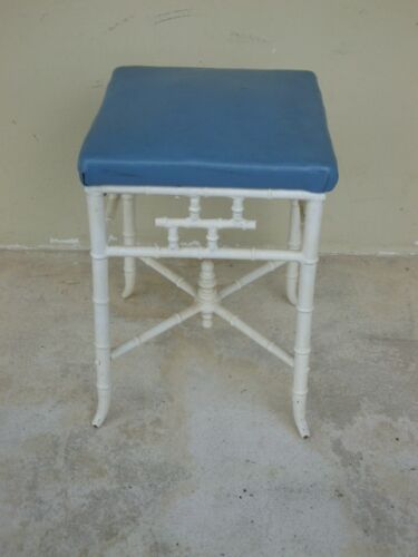 VINTAGE CHINESE CHIPPENDALE METAL STOOL WITH EXCELLENT PROPORTIONS
