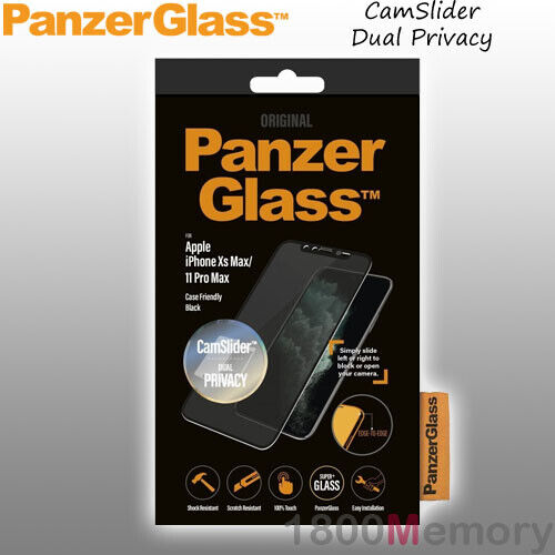 GENUINE PanzerGlass CamSlider Dual Privacy Screen Protector Apple iPhone Xs Max