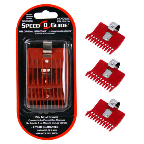 """Speed-O-Guide Universal Clipper Comb 3-PK SIZE 0 - 3/16"""" - 00-1/16"""" 000 -1/32"""""""