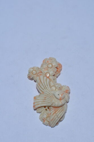 ANGEL SKIN CORAL, VINTAGE HAND CARVED, MUSEUM QUALITY, 100% NATURAL/UNTREATED, A