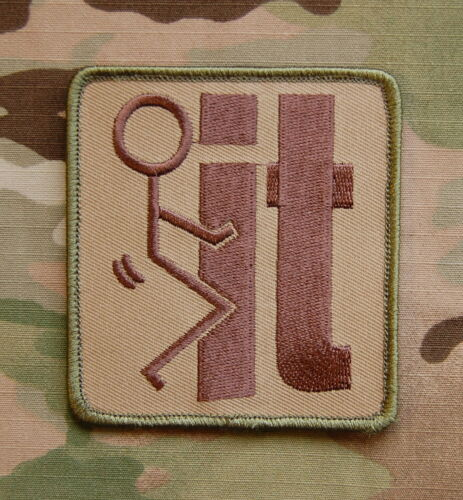 Multicam F**k F It Tactical Embroidered Patch VELCRO® Brand Fastener BackingArmy - 48824