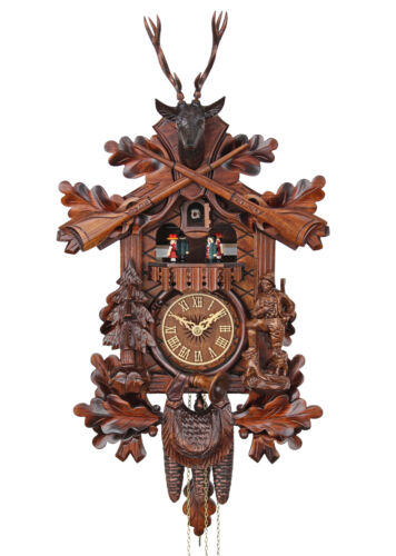 Adolf Herr Cuckoo Clock - The Deer Hunter   AH 373/1 MT NEW