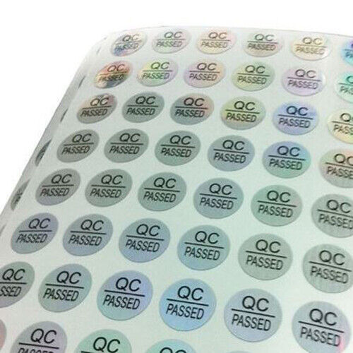 288 Stickers (3 Sheets 96 Each) QC PASSED Labels 10mm Diameter