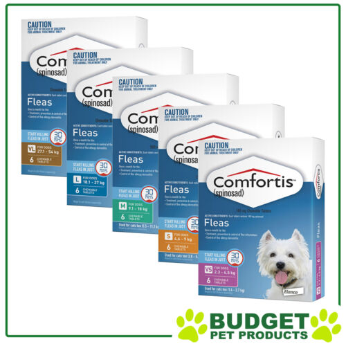 Comfortis For Dogs - Flea Treatment Chew 6 Pack - All Sizes