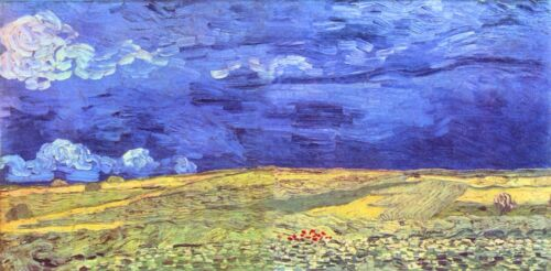 Field under storm heaven by Vincent Van Gogh Giclee Print  Repro on Canvas