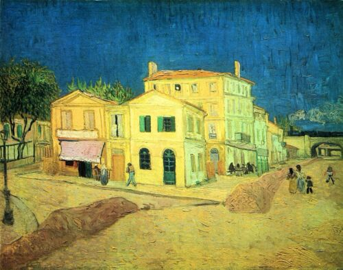 The Yellow House (Vincent's House) by Vincent Van Gogh Giclee Repro on Canvas