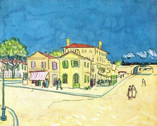 Study on Vincent's House in Arles by Vincent Van Gogh Giclee Repro on Canvas