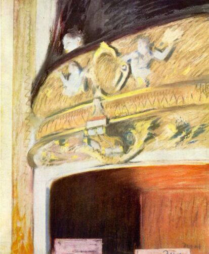 Theater Loge by Edgar Degas Giclee Fine Art Print Reproduction on Canvas