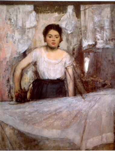 Woman Ironing by Edgar Degas Giclee Fine Art Print Reproduction on Canvas