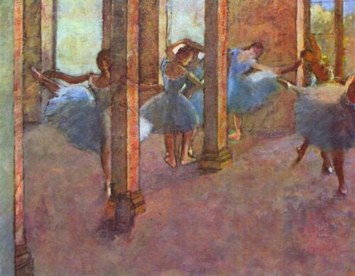 Dancers in the Foyer by Edgar Degas Giclee Fine Art Print Repro on Canvas