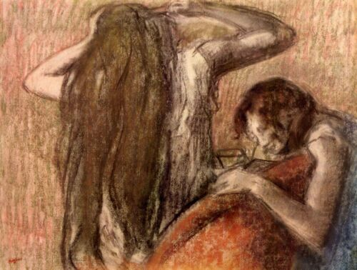 Two girls by Edgar Degas Giclee Fine Art Print Reproduction on Canvas