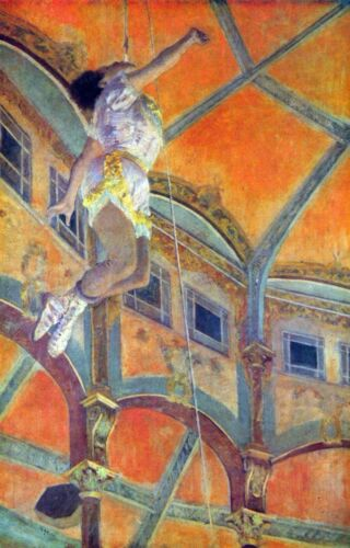 Miss Lala in Circus Fernando by Edgar Degas Giclee Fine Art Repro on Canvas