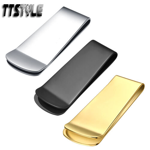 High Quality TTstyle 316L Stainless Steel Money Clip Two Colour Choose