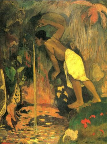 Mysterious Source by Paul Gauguin Giclee Fine ArtPrint Reproduction on Canvas