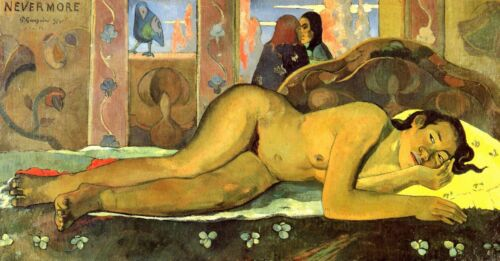 Nevermore by Paul Gauguin Giclee Fine ArtPrint Reproduction on Canvas